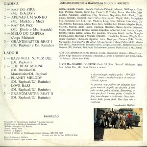 Grandmaster Raphael, Beats, funks e raps, contrcapa, 1993