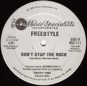 "Freestyle, ""Don't Stop the Rock"", lado A"