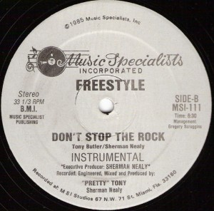 "Freestyle, ""Don't Stop the Rock"", lado B"