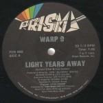 "Warp 9, ""Light Years Away"", selo, lado A"